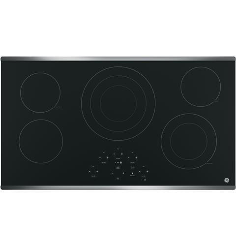 Built-in Kitchen Timer Digital Touch Controls Melt Setting GE JP5036DJBB 36 Inch Smoothtop Electric Cooktop with 5 Radiant Elements Center Tri-Ring Burner Keep Warm ADA Compliant Fits Guarantee