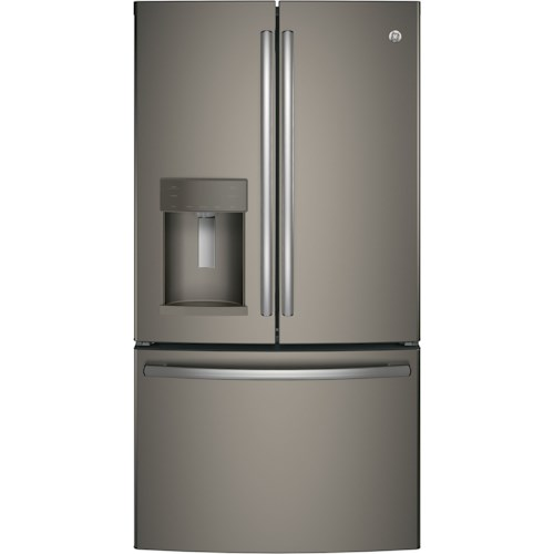 GE Appliances GE French Door Refrigerators GE® Series ENERGY STAR® 22.2 Cu. Ft. Counter-Depth French-Door Refrigerator