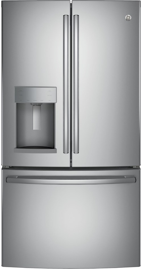 GE Appliances GE French Door Refrigerators GE® Series ENERGY STAR® 22.2 Cu. Ft. Counter-Depth French-Door Refrigerator