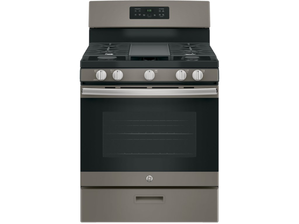 Ge Gas Ranges 30 Free Standing Range With Non Stick Griddle By Liances At Del Sol Furniture