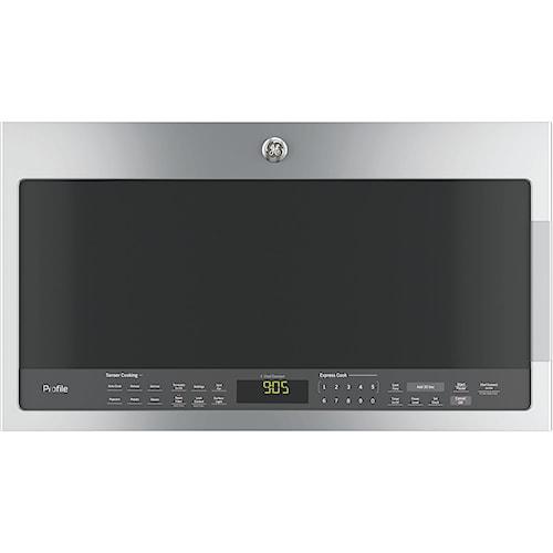 GE Appliances GE Microwaves Profile™ Series 2.1 Cu. Ft. Over-the-Range Sensor Microwave Oven