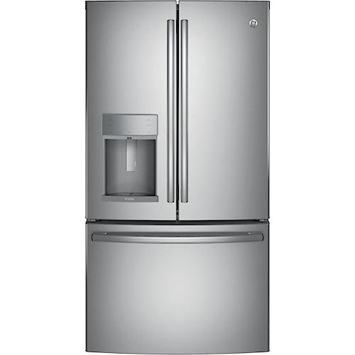 GE Appliances GE Profile French Door Refrigerators GE Profile™ Series ENERGY STAR® 22.2 Cu. Ft. Counter-Depth French-Door Refrigerator
