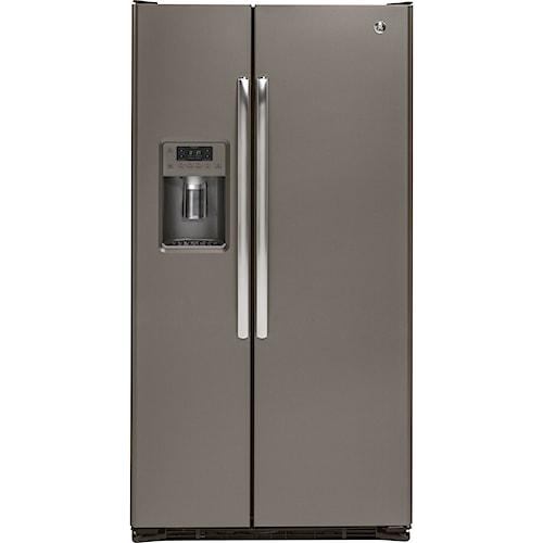 GE Appliances GE Series Side-By-Side Refrigerators GE® Series 21.9 Cu. Ft. Counter-Depth Side-By-Side Refrigerator