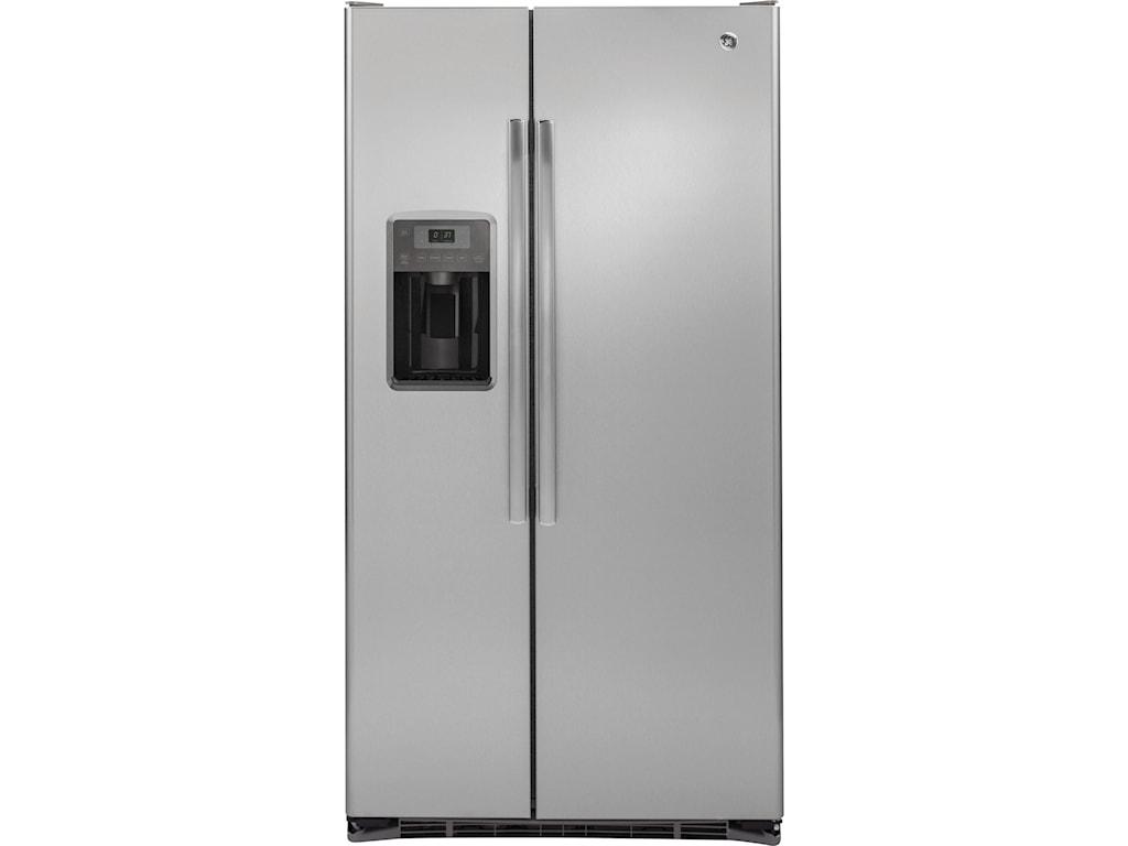 GE Appliances GE Series Side-By-Side RefrigeratorsGE 21.9 Cu. Ft.Counter-Depth Refrigerator