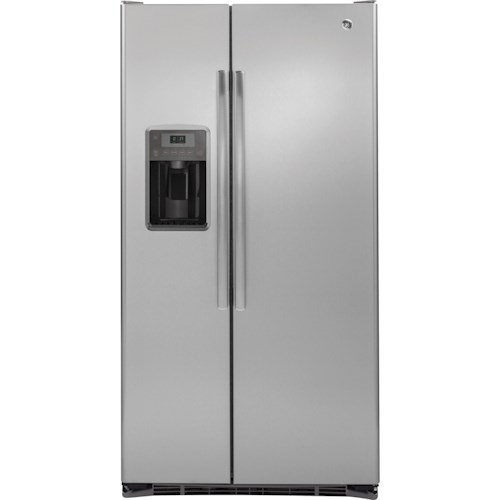 GE Appliances GE Series Side-By-Side Refrigerators GE® Series 21.9 Cu. Ft. Counter-Depth Side-By-Side Refrigerator