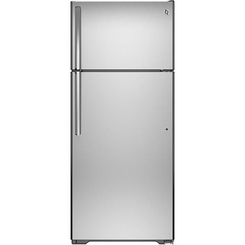 GE Appliances GE Top-Freezer Refrigerators GE® Series 17.5 Cu. Ft. Top-Freezer Refrigerator