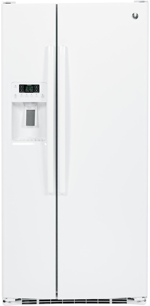 GE Appliances Side by Side Refrigerators - 2014 22.5 Cu. Ft. Side-By-Side Refrigerator