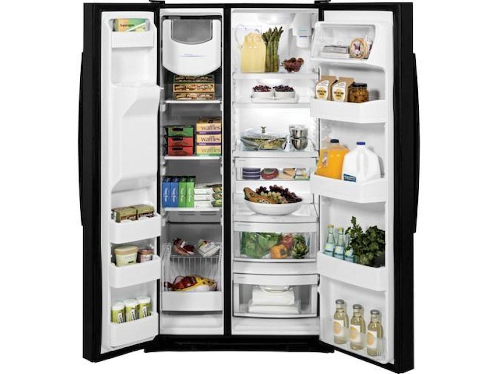 GE Appliances Side by Side Refrigerators - 201425.4 Cu. Ft. Side-By-Side Refrigerator