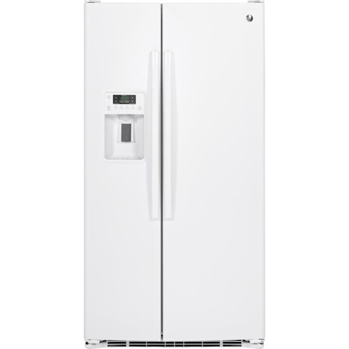 GE Appliances Side by Side Refrigerators - 2014 25.4 Cu. Ft. Side-By-Side Refrigerator