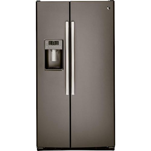 GE Appliances Side by Side Refrigerators - 2014 2 25.4 Cu. Ft. Side-By-Side Refrigerator