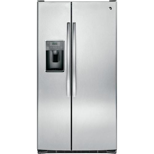 GE Appliances Side by Side Refrigerators - 2014 25.4 Cu. Ft. Side-By-Side Refrigerator