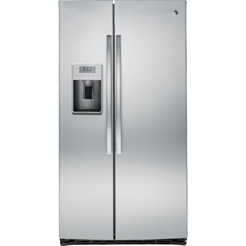 GE Appliances Side by Side Refrigerators - 2014 Profile™ Series ENERGY STAR® 25.4 Cu. Ft. Side-by-Side Refrigerator