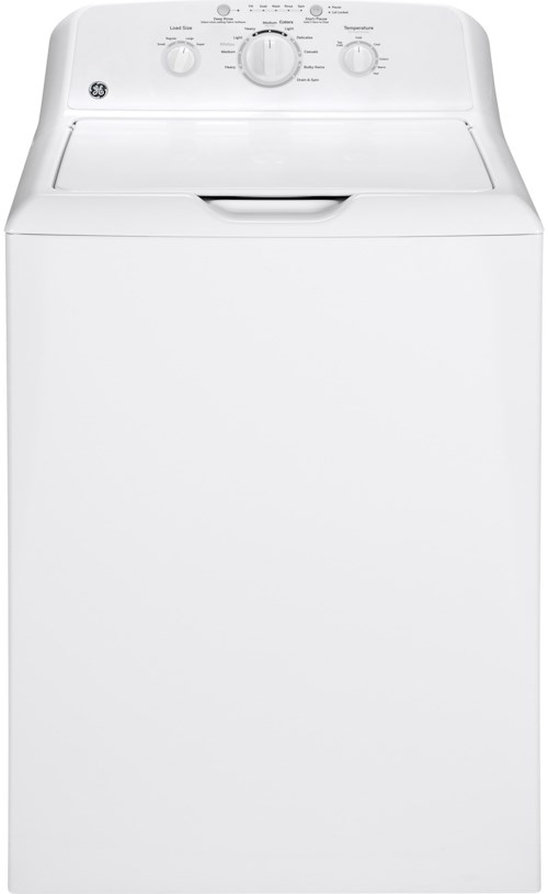 GE Appliances Top Load Washers - GE GE® 3.8 DOE cu. ft. Capacity Washer with Stainless Steel Basket