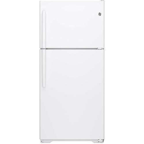 GE Appliances Top-Freezer Refrigerators - GE - 2014 ENERGY STAR® 18.2 Cu. Ft. Top-Freezer Refrigerator
