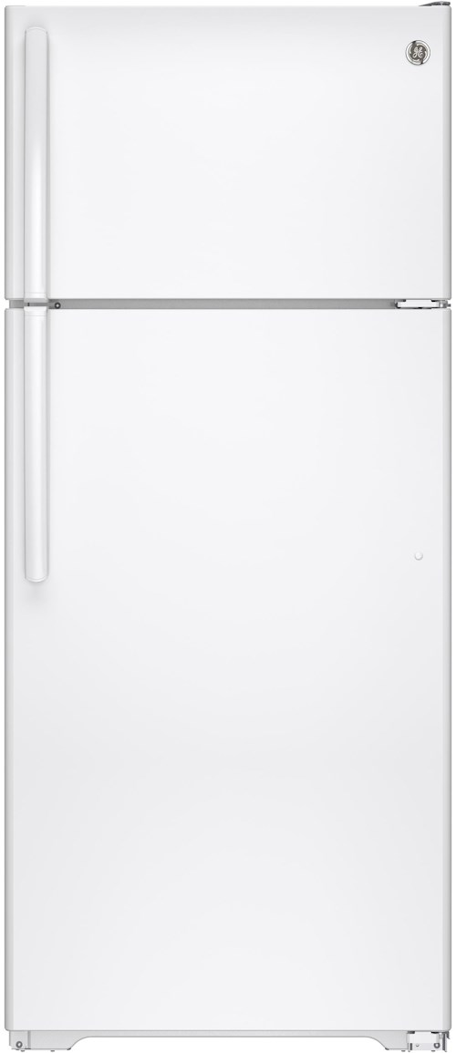 GE Appliances Top-Freezer Refrigerators - GE - 2014 ENERGY STAR® 17.5 Cu. Ft. Top-Freezer Refrigerator