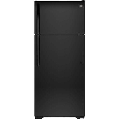 GE Appliances Top-Freezer Refrigerators ENERGY STAR® 17.6 Cu. Ft. Top-Freezer Refrigerator with Built-In Ice Maker and Adjustable Door Bins