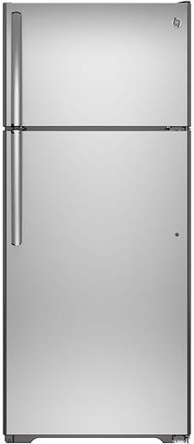 GE Appliances Top-Freezer Refrigerators ENERGY STAR® 17.6 Cu. Ft. Top-Freezer Refrigerator with Built-In Ice Maker and Adjustable Door Bins