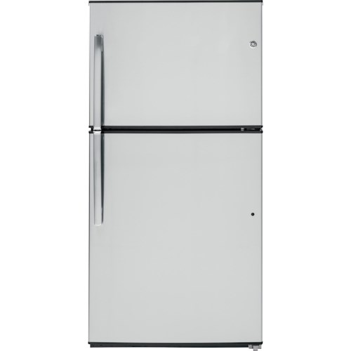 GE Appliances Top-Freezer Refrigerators ENERGY STAR® 21.2 Cu. Ft. Stainless Top-Freezer Refrigerator with Built-In Ice Maker