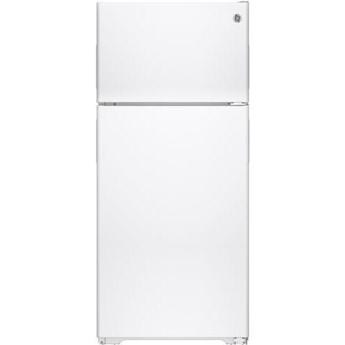 GE Appliances Top-Freezer Refrigerators ENERGY STAR® 15.5 Cu. Ft. Recessed Handle Top-Freezer Refrigerator