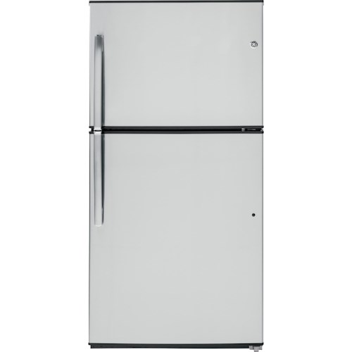 GE Appliances Top-Freezer Refrigerators ENERGY STAR® 21.2 Cu. Ft. Top-Freezer Refrigerator with Adjustable Spillproof Glass Shelves