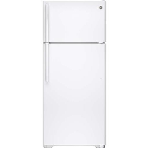 GE Appliances Top-Freezer Refrigerators 17.5 Cu. Ft. Top-Freezer Refrigerator with Spillproof Glass Shelves