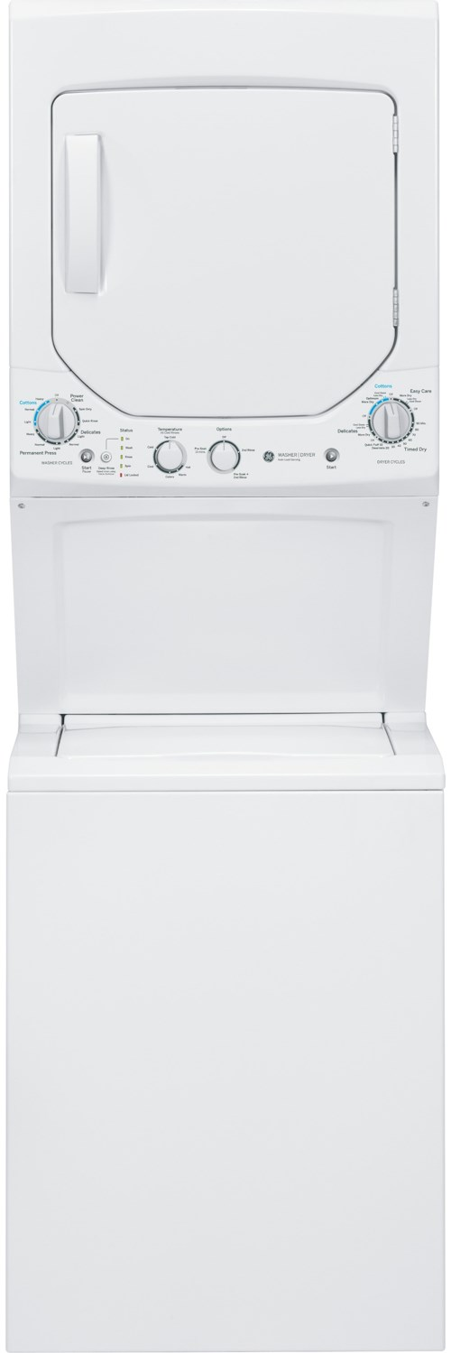GE Appliances Washer and Dryer Sets 2.0 cu. ft. Washer and 4.4 cu. ft. Gas Dryer Unitized Spacemaker®
