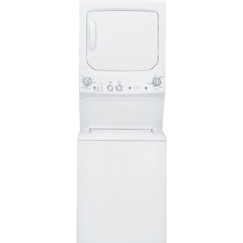 GE Appliances Washer and Dryer Sets 3.2 cu. ft. Washer and 5.9 cu. ft. Electric Dryer Unitized Spacemaker®