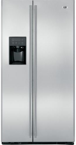 GE Monogram Freestanding Refrigeration 24.6 Cu. Ft. Counter-Depth Freestanding Side-by-Side Refrigerator with Exterior Ice and Water Dispenser