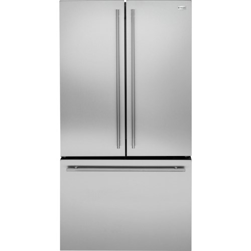 GE Monogram Freestanding Refrigeration ENERGY STAR® 23.1 Cu. Ft. Counter-Depth French-Door Refrigerator with Factory Installed Ice Maker