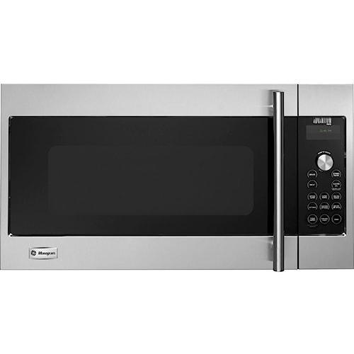 GE Monogram Microwaves 1.7 Cu. Ft. 120 Volt Built-In Above-the-Cooktop Advantium® Speedcooking Microwave with European Stainless Steel Design