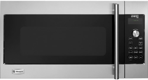 GE Monogram Microwaves 1.7 Cu. Ft. 120 Volt Built-In Above-the-Cooktop Advantium® Speedcooking Microwave with European Stainless Steel Design
