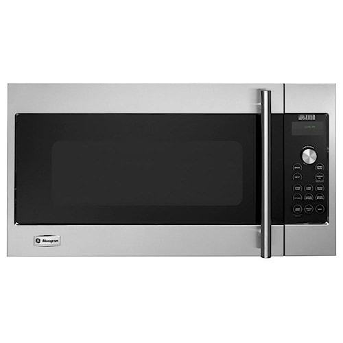 GE Monogram Microwaves 1.7 Cu. Ft.  240 Volt Built-In Above-the-Cooktop Advantium® Speedcooking Microwave with European Stainless Steel Design