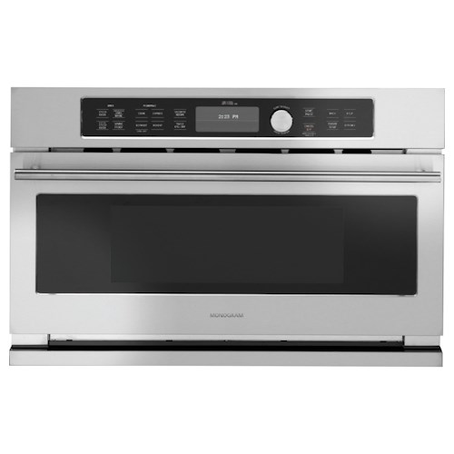 GE Monogram Wall Ovens Advantium® 1.6 cu. ft. Single Built-In Electric Wall Oven with Auto Defrost and Microwave Sensor Cook