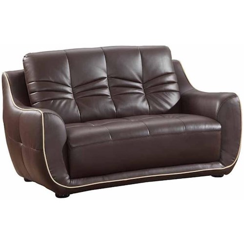 Global Furniture 2088 2088- Brown Love Seat