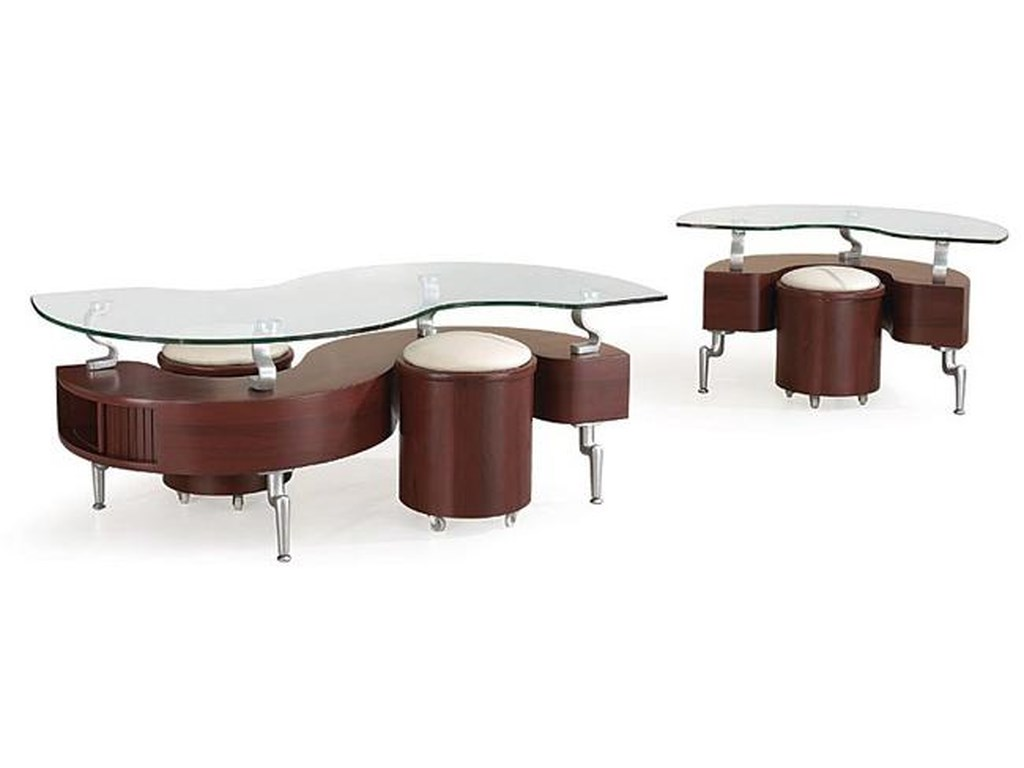 Global Furniture 288Occasional Table and Stool Package