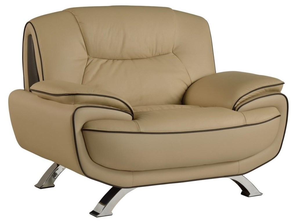 Global Furniture 405Beige Chair