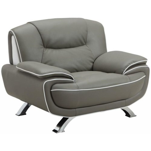 Global Furniture 405 405- Gray Chair