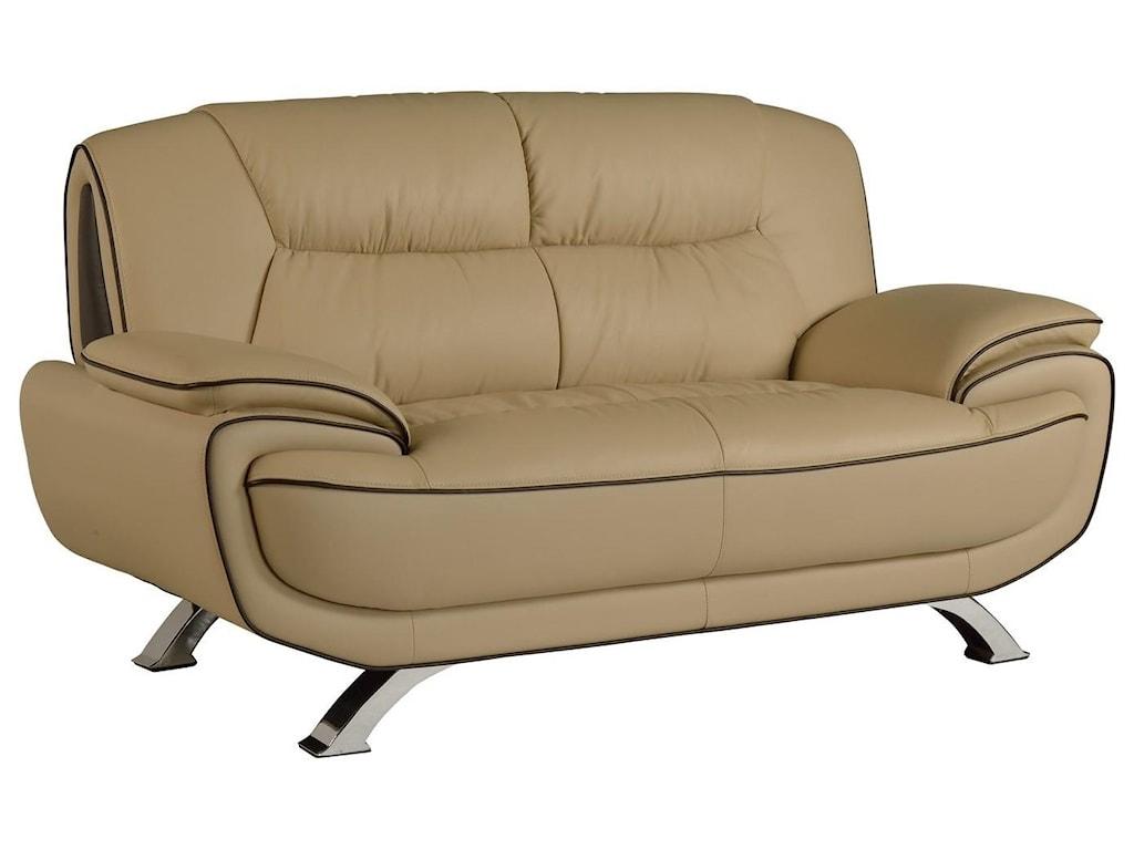 Global Furniture 405Beige Love Seat