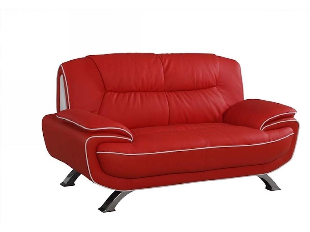 Global Furniture 405Red Love Seat