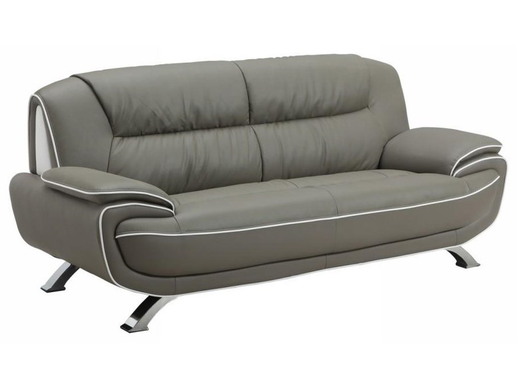 Global Furniture 405Gray Sofa