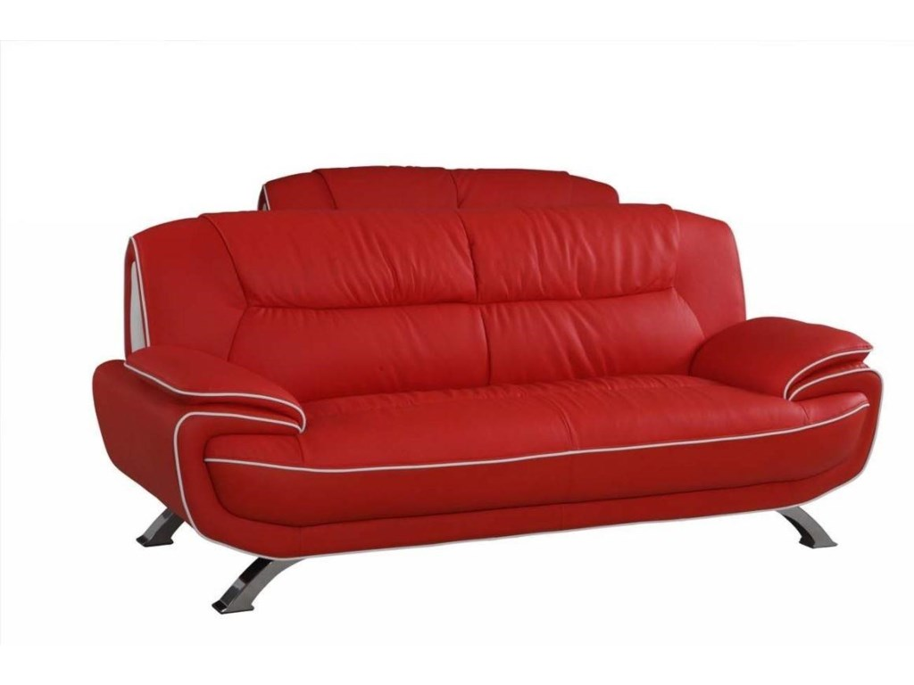 Global Furniture 405Red Sofa