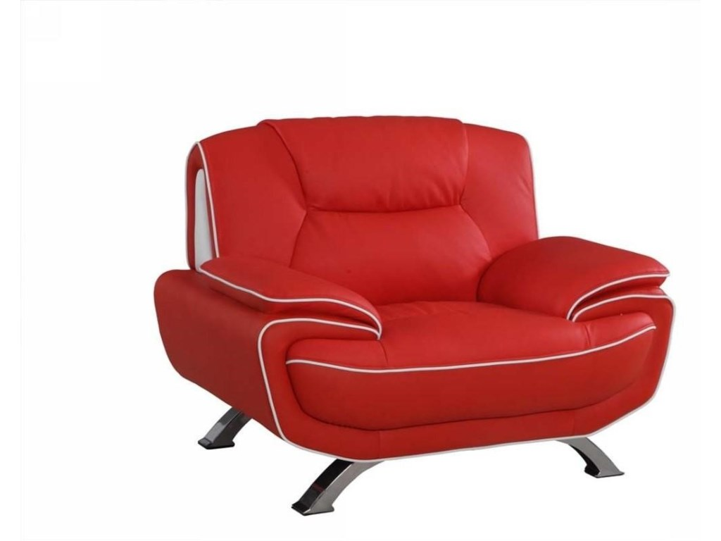 Global Furniture 405Red Chair