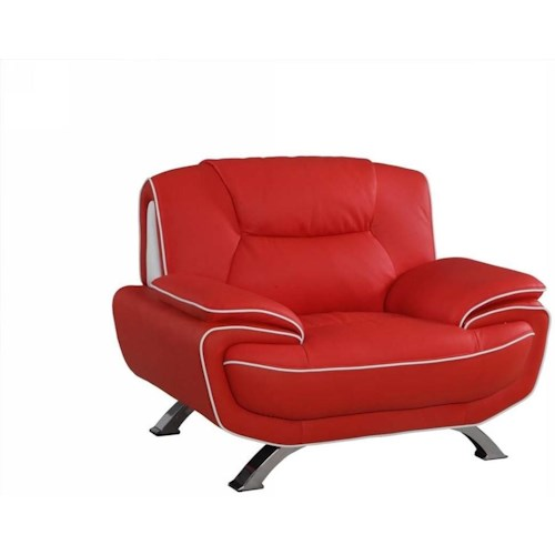 Global Furniture 405 405- Red Chair