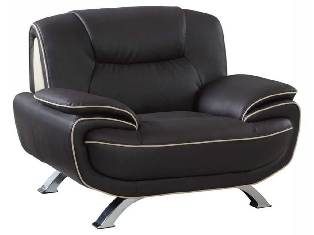 Global Furniture 405Brown Chair