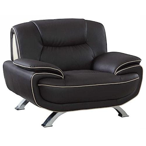 Global Furniture 405 405- Brown Chair