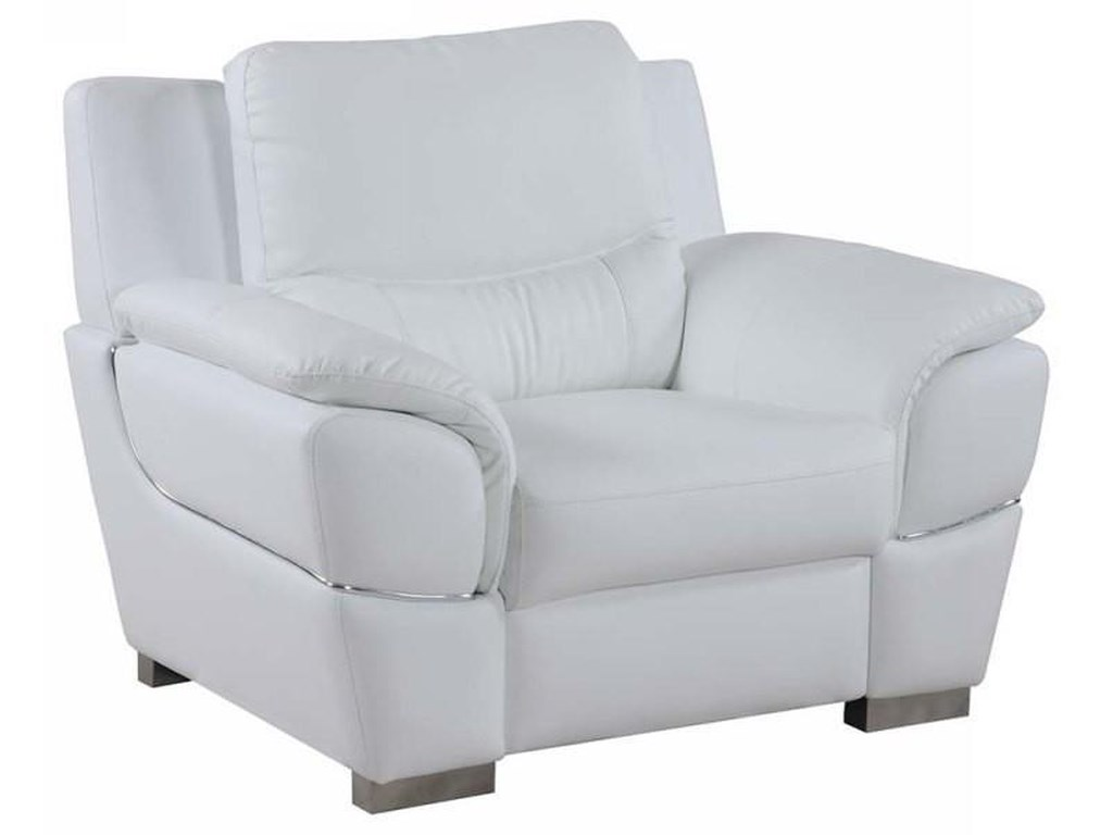 Global Furniture 4572White Chair