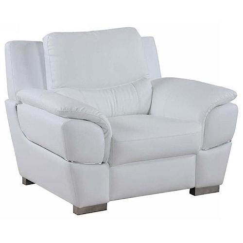 Global Furniture 4572 4572- White Chair