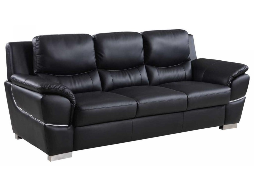Global Furniture 4572Black Sofa