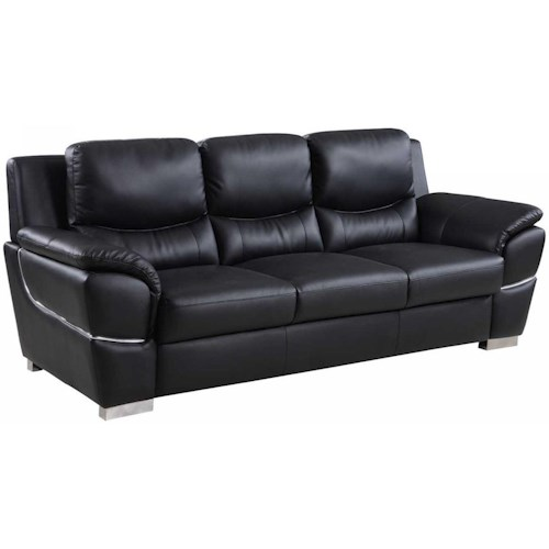 Global Furniture 4572 4572- Black Sofa