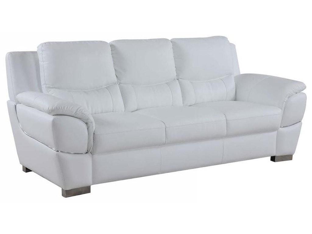 Global Furniture 4572White Sofa